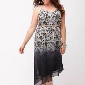 Lane Bryant V Neck Floral Ombre Dress Size 22/24